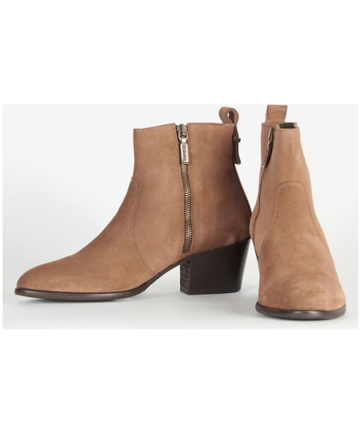 Women's Barbour Luana Ankle Boots - Tobacco Suede