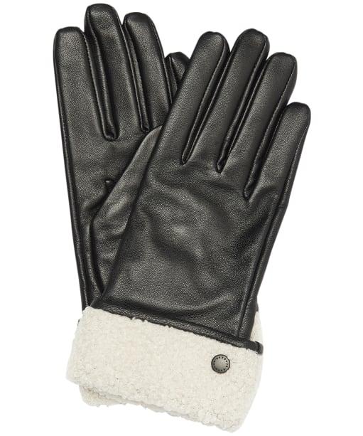 Women's Barbour Lara Leather Gloves - Black