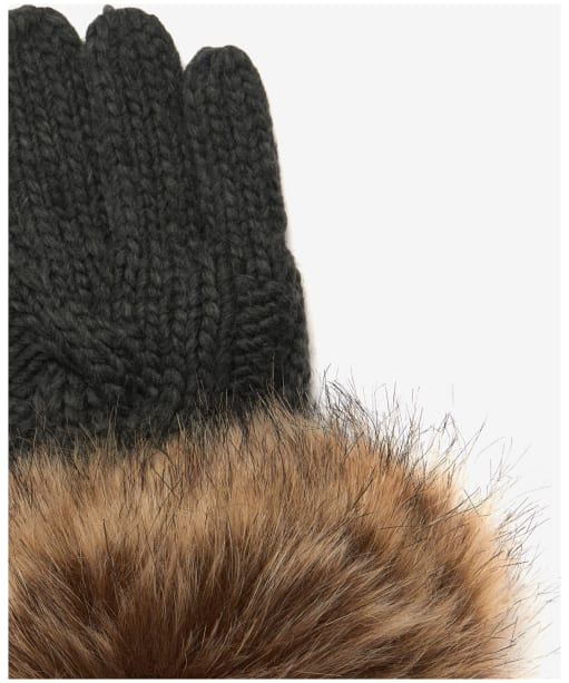 Women's Barbour Penshaw Knitted Gloves - Charcoal Grey