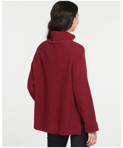 Women's Barbour Stitch Cape - Beet Red