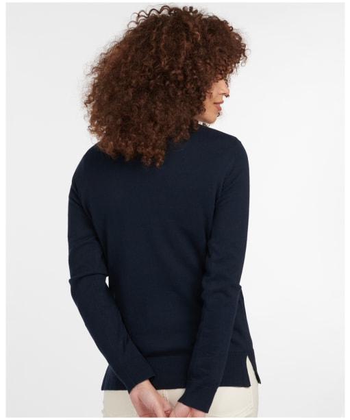 Women's Barbour Saddle Knit - Navy