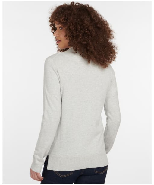 Women's Barbour Audley Knit - Pale Grey Marl