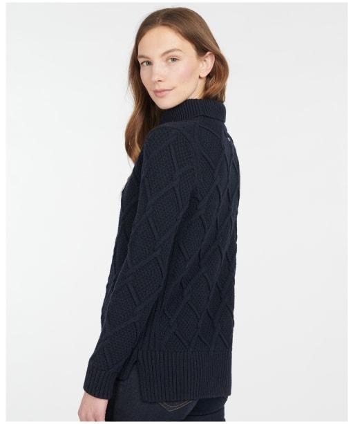 Women's Barbour Burne Roll Neck Knit - Navy