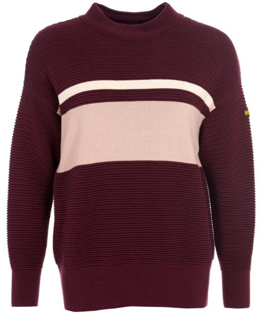 Women's Barbour International Chicane Sweater - Merlot