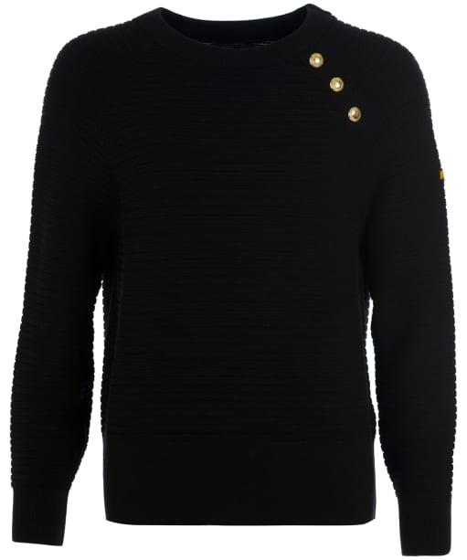 Women's Barbour International Piquet Sweater - Black