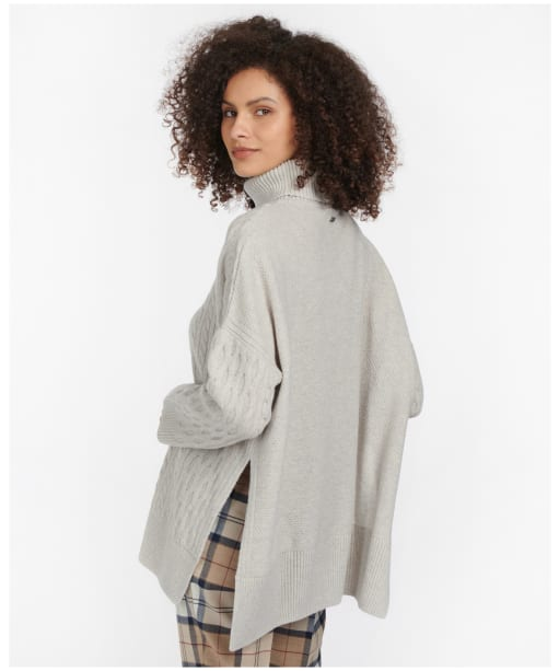 Women's Barbour Maybury Cape - Pale Grey Marl