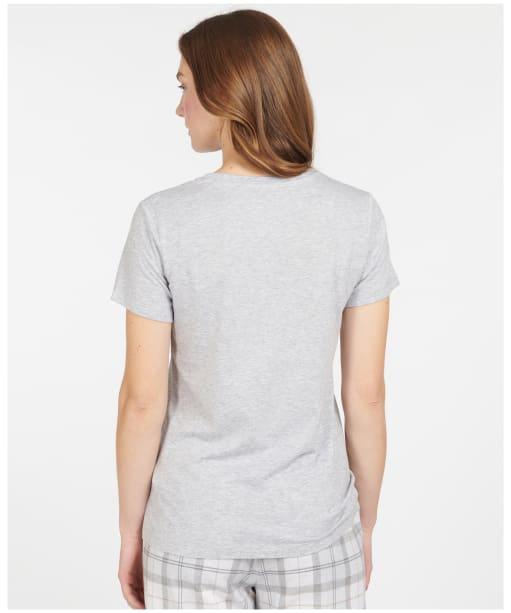Women's Barbour Nellie Tee - Light Grey Marl