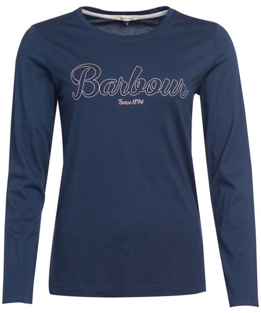 Women's Barbour Ginny L/S T-Shirt - Navy