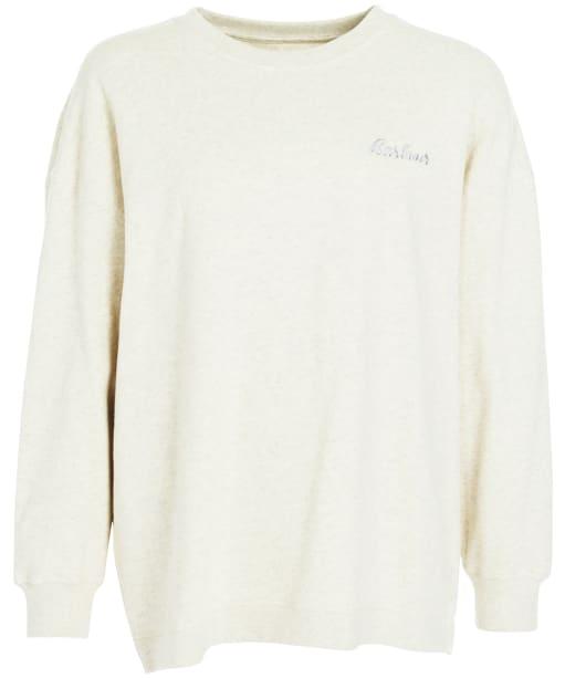 Women's Barbour Rosie Lounge Crew Sweater - Ecru Marl