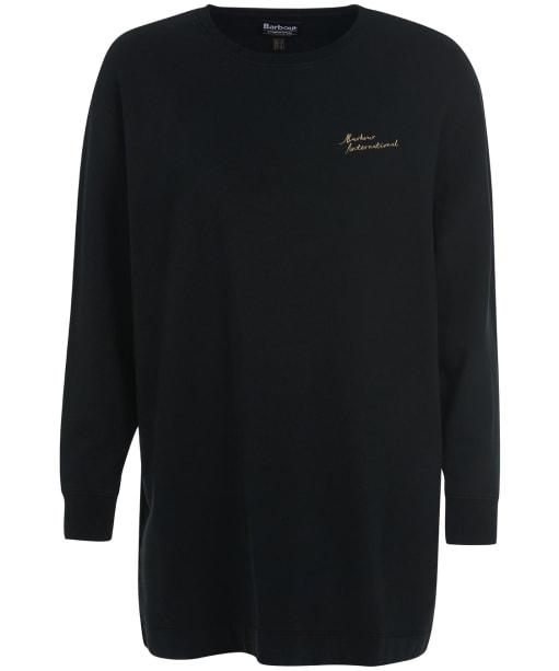 Women's Barbour International Picard Sweatshirt - Black