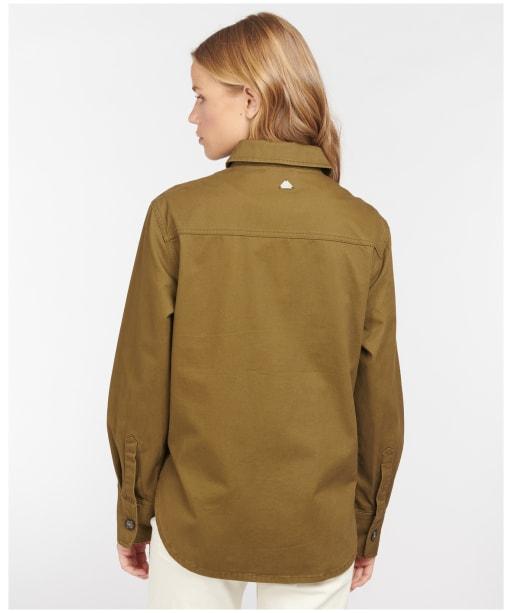 Women's Barbour Hartley Overshirt - Nori Green