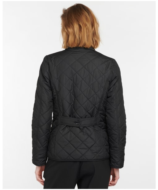 Women's Barbour Forth Quilted Jacket - BLACK/HESSIAN