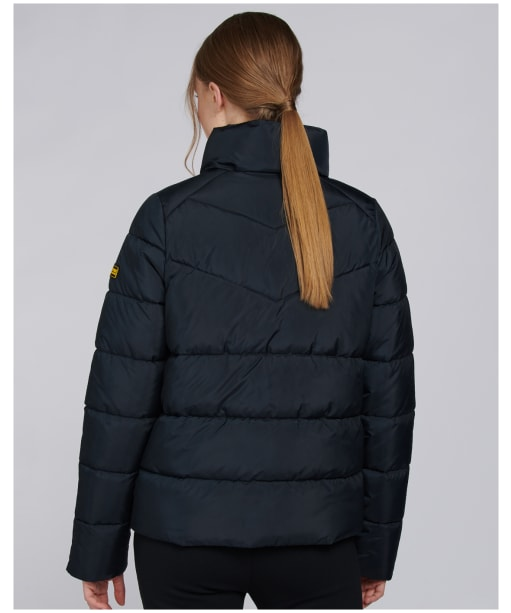 Women's Barbour International Zolder Quilted Jacket - Black