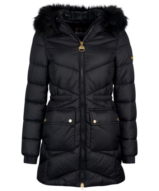 Women's Barbour International Tampere Quilted Jacket - Black