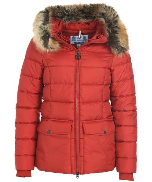 Women's Barbour Bayside Quilted Jacket - Flame Red