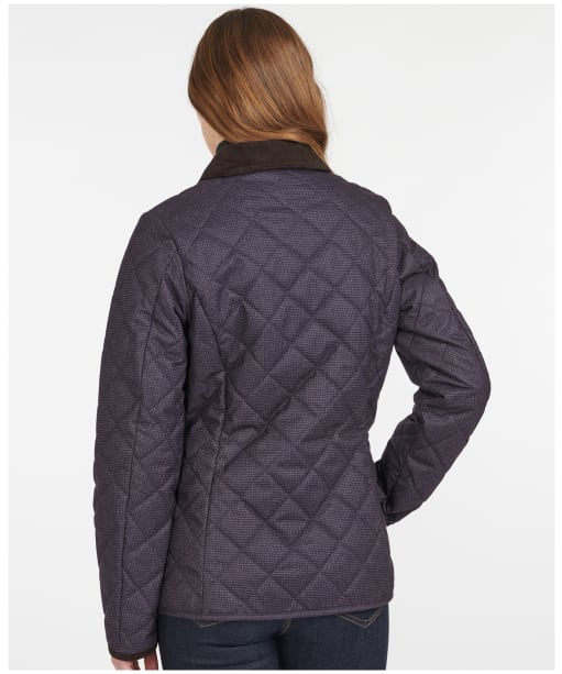 Women's Barbour Snowhill Quilted Jacket - Elderberry