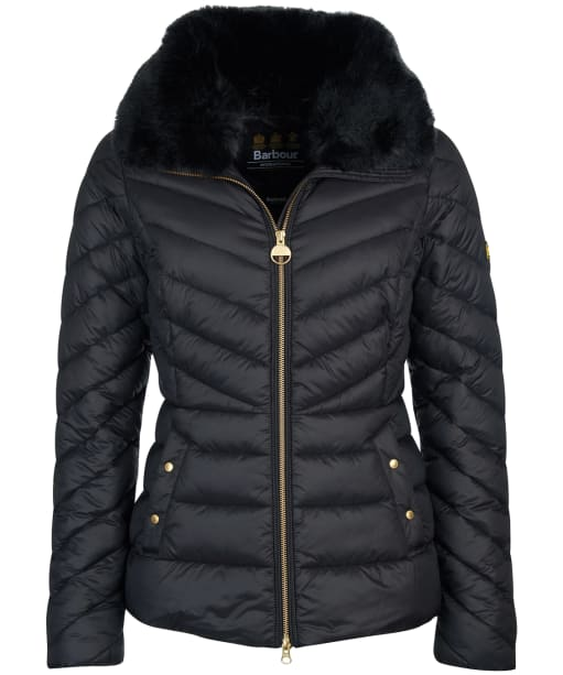 Women's Barbour International Simoncelli Quilted Jacket - Black