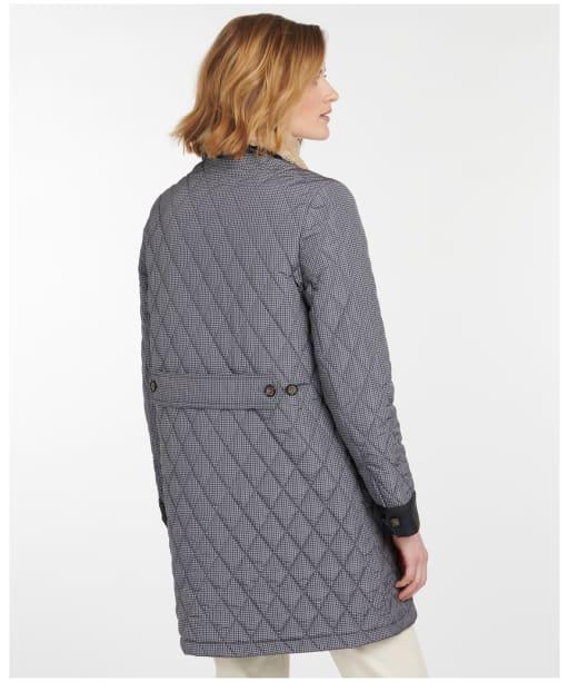 Women's Barbour Killhope Quilted Jacket - Dark Navy Check