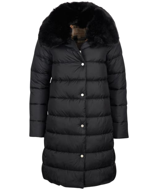 Women's Barbour Portobello Quilted Jacket - Black