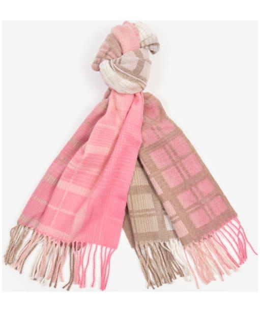 Women's Barbour Reesdale Ombre Tartan Wrap - Pink / Hessian