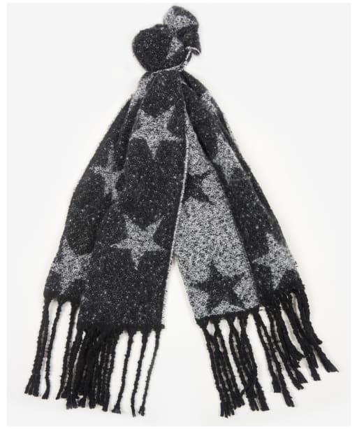 Women's Barbour International Agatha Star Boucle Wrap - Black / White
