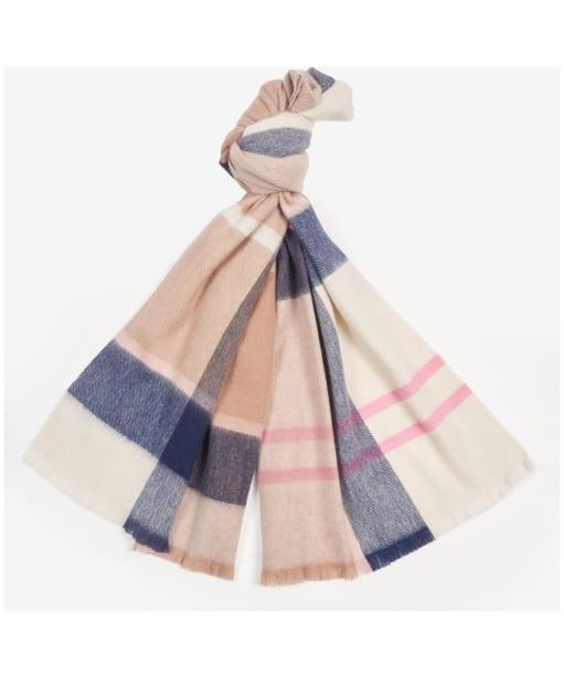Women's Barbour Rosefield Tartan Scarf - Pink / Hessian