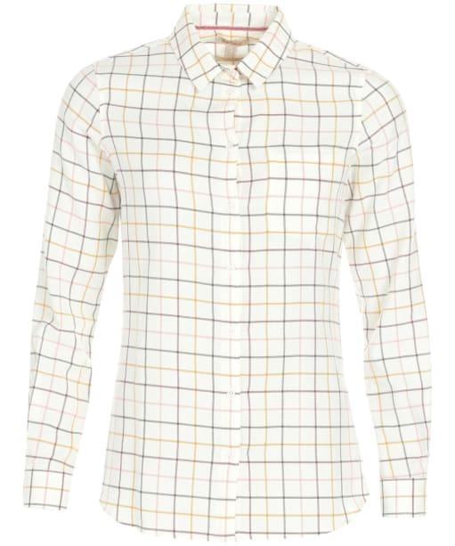 Women's Barbour Triplebar Shirt - CLOUD/DUSTY PNK