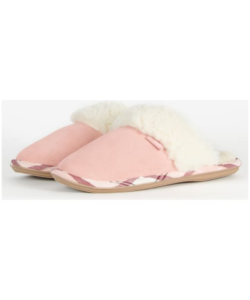 Women's Barbour Lydia Suede Mule Slippers - Pink Suede