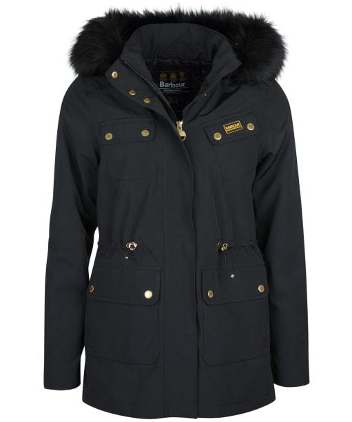 Women's Barbour International Wanneroo Waterproof Jacket - Black