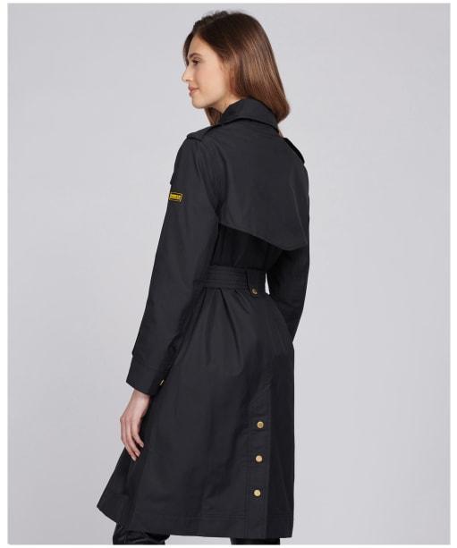 Women's Barbour International Beveridge Waterproof Trench Coat - Black