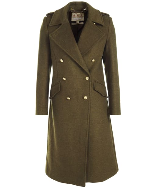 Women's Barbour Inverraray Wool Coat - Military Olive