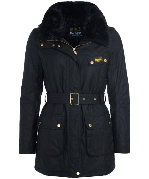 Women's Barbour International Charade Waxed Jacket - Black