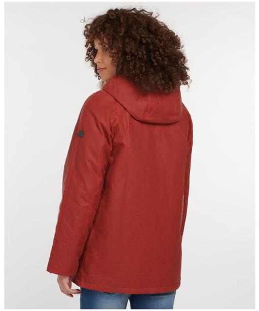 Women's Barbour Merlin Wax Jacket - Flame Red