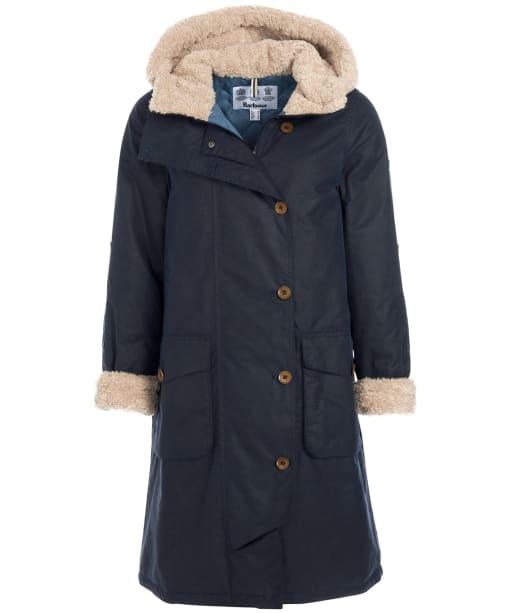 Women's Barbour Peregrine Wax Jacket - Royal Navy