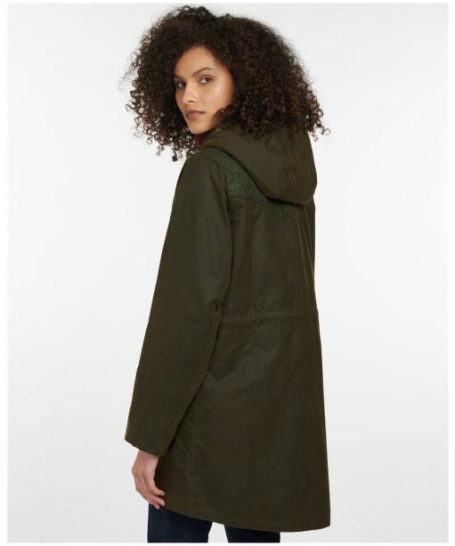 Women's Barbour Keiss Wax Jacket - Olive