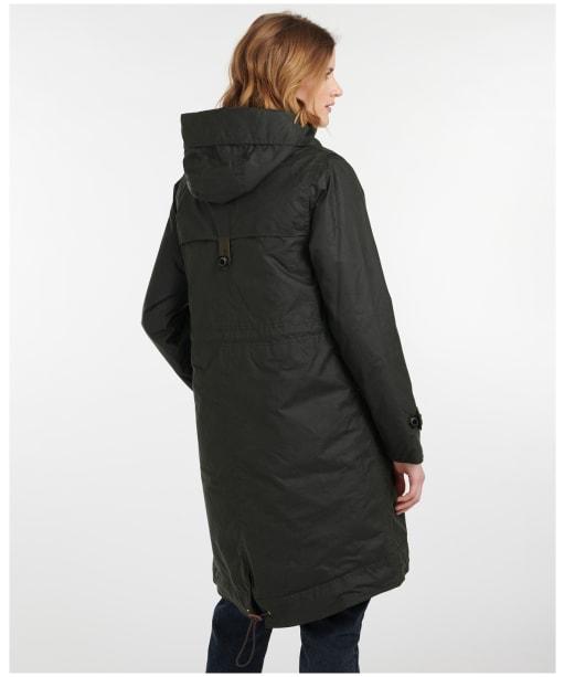 Women's Barbour Avoch Waxed Jacket - Sage