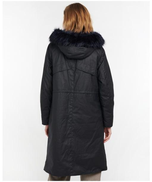 Women's Barbour Claudia Waxed Jacket - Dark Navy