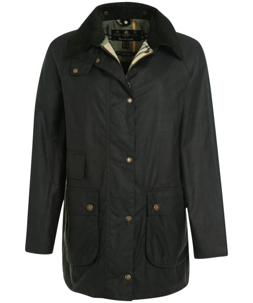 Women's Barbour Tain Waxed Jacket - Sage