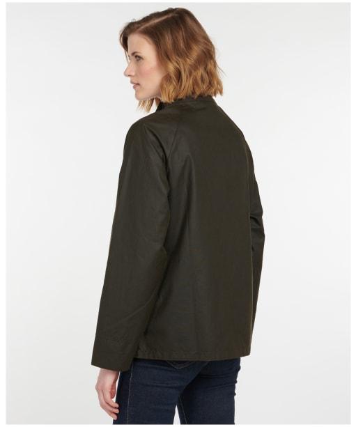 Women's Barbour Lochranza Wax Jacket - Olive