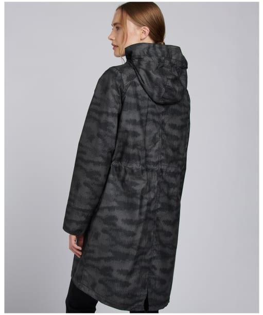 Women's Barbour International Camo Waxed Jacket - Chrome Camo