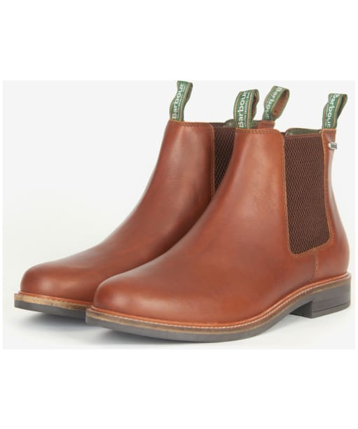 Men's Barbour Farsley Chelsea Boots - Mahogany