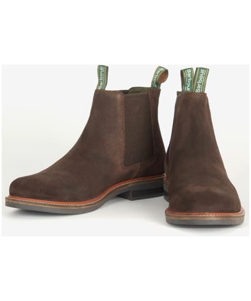 Men's Barbour Farsley Chelsea Boots - Chocolate Suede