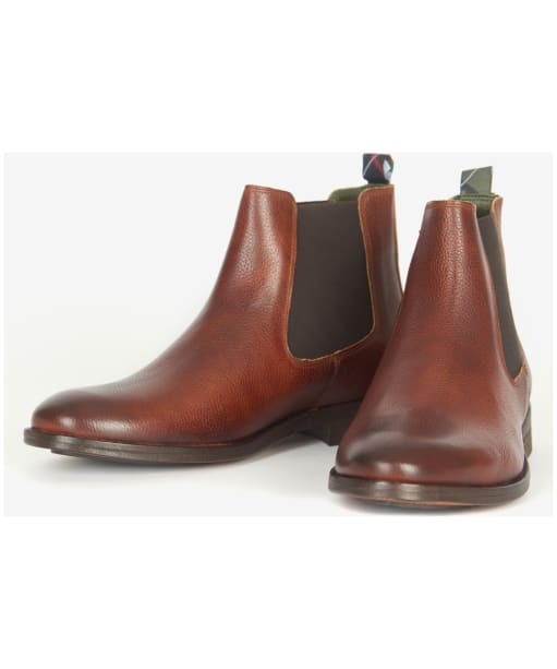 Men's Barbour Bedlington Chelsea Boots - CHESTNUT GRAIN