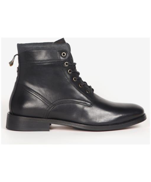 Men's Barbour Backworth Leather Derby Boots - Black