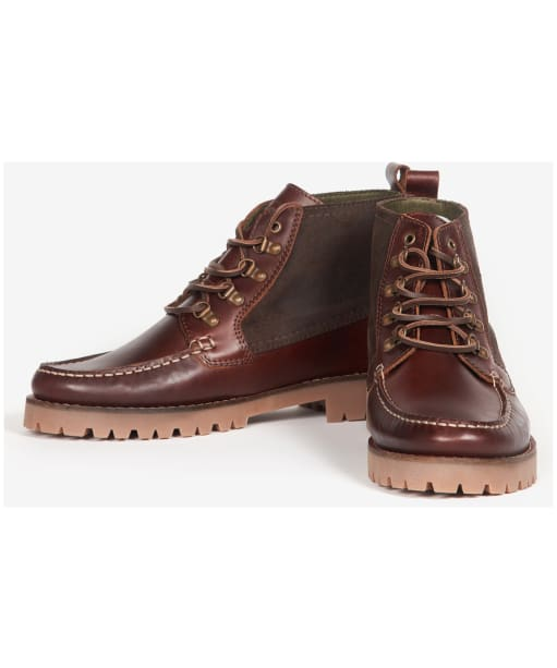 Men's Barbour Topsail Ankle Boots - Mahogany