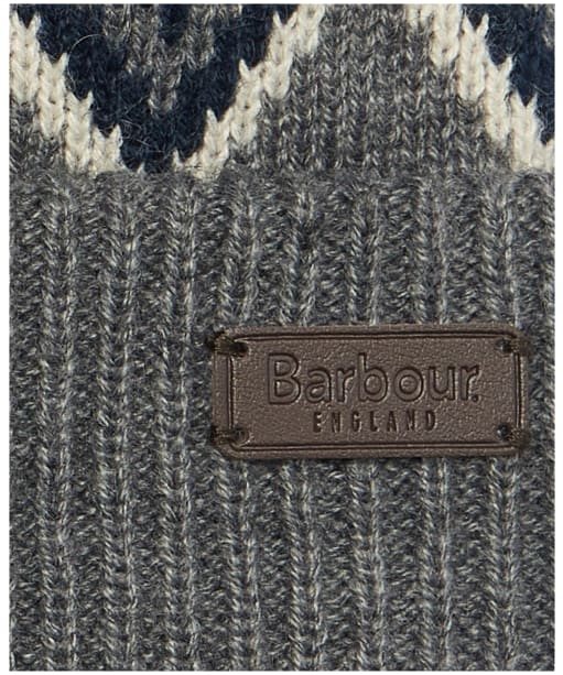 Men's Barbour Elwick Fair Isle Beanie & Scarf Gift Set - Navy / Grey
