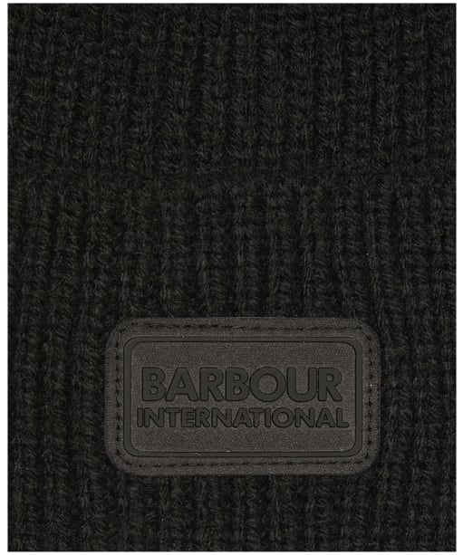 Barbour International Track Beanie & Scarf Giftset - Black