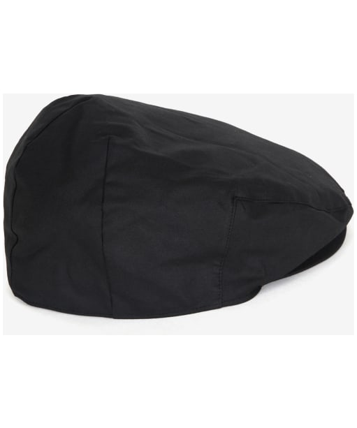 Men's Barbour Waxed Flat Cap - BLACK/WINTE RED