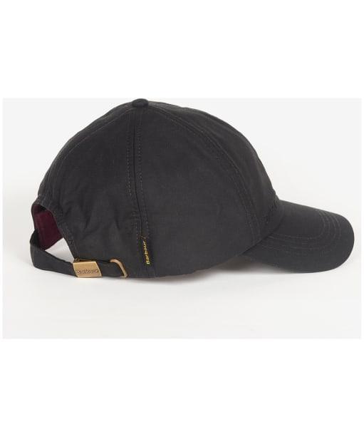 Men's Barbour Waxed Sports Cap - BLACK/WINTE RED