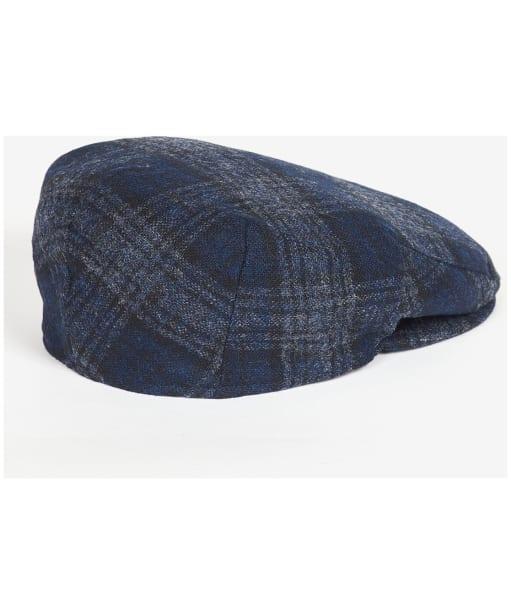 Men's Barbour Moons Tweed Cap - Navy Plaid